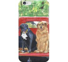 Antique Fire Truck with Dogs iPhone Case/Skin