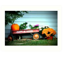 The Old Radio Flyer Art Print