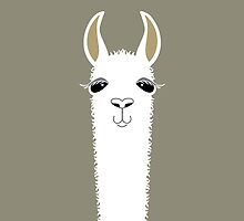 LLAMA PORTRAIT #1 by Jean Gregory  Evans
