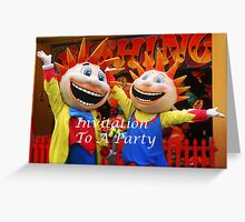 Party Invitation Greeting Card
