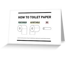 How To Toilet Paper Greeting Card