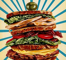 Turkey Club on Rye by Kelly  Gilleran