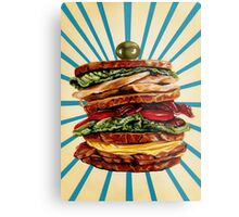 Turkey Club on Rye Metal Print