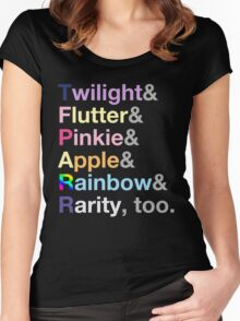Ponies. Women's Fitted Scoop T-Shirt