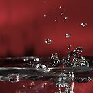 Splash on Red by Roxanne Persson