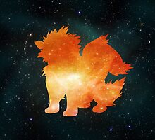Galaxy Arcanine by BrittanyPurcell