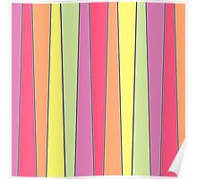 Summer Color Pallette Crooked Stripes Poster