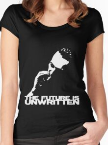 future is unwritten Women's Fitted Scoop T-Shirt