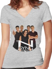 'N SYNC ('90s Edition) Women's Fitted V-Neck T-Shirt