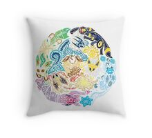 Tribalish Eeveelutions Throw Pillow