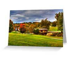 The Kissing Bridge-Ticonderoga Greeting Card
