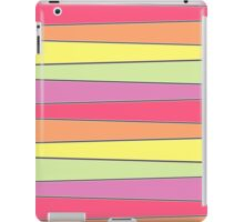 Summer Color Pallette Crooked Stripes- Horizontal iPad Case/Skin