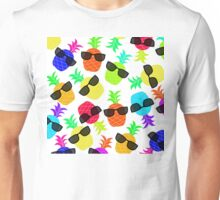 """Seriously Cool Ananas"" - Ananas Fruit Tropical Hot Pink Neon Fuchsia Fluorescent Orange Green Teal Purple Ultraviolet Yellow Sunglasses Lime Cool Super Fantastic Silly Cute Funny Humor   Unisex T-Shirt"