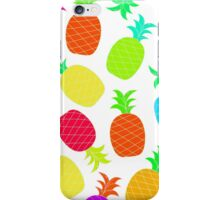 """Funky Fun"" - Ananas Fruit Tropical Hot Pink Neon Fuchsia Fluorescent Orange Green Teal Purple Ultraviolet Yellow Lime Cool Super Fantastic Silly Cute Funny Orange Blue Green iPhone Case/Skin"