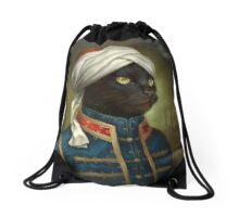 The Hermitage Court Moor Cat  Drawstring Bag