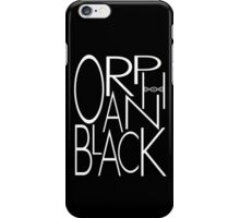 Orphan Black - Letters (White) iPhone Case/Skin