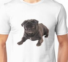 Funny Sleeping Black Pug Unisex T-Shirt