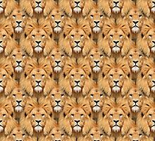 Lion Face Pattern by 319media