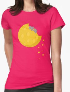 """""""If I could take a mouse to the moon…"""" Womens Fitted T-Shirt"""