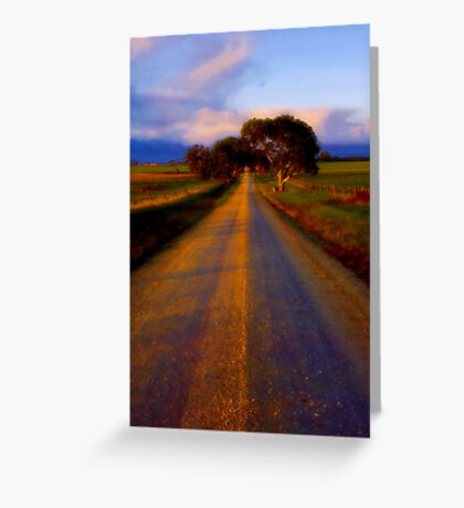 """Road to Buckley"" Greeting Card"