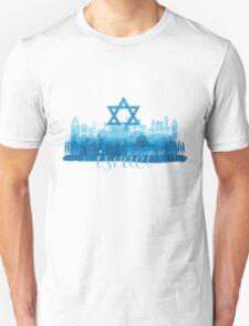 Israel cityscape - watercolor Unisex T-Shirt