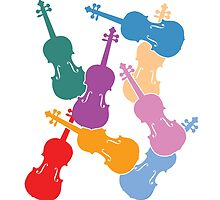 Colorful Violins by zenguin
