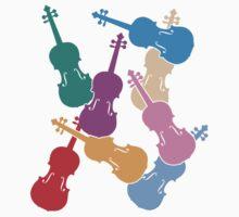 Colorful Violins Kids Tee
