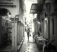 Side streets of Corfu Town Greece by fruitcake