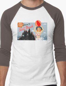 Dark City Shell Beach Men's Baseball ¾ T-Shirt