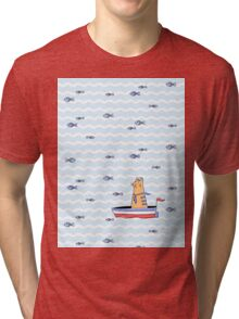 Salty sailor cat. Tri-blend T-Shirt