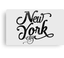 New York City vintage typography Canvas Print