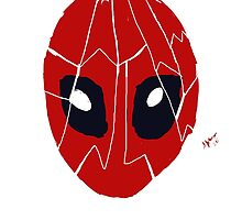 Deadpool mask mosaic by Sylvestersimage