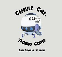 Capsule Corp. Training Center (Black Text) Unisex T-Shirt