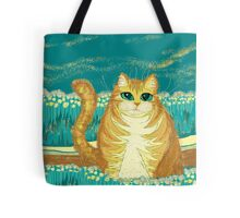 Cat And Pollen Tote Bag