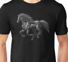 Galloping Ghost Silver Horse Unisex T-Shirt