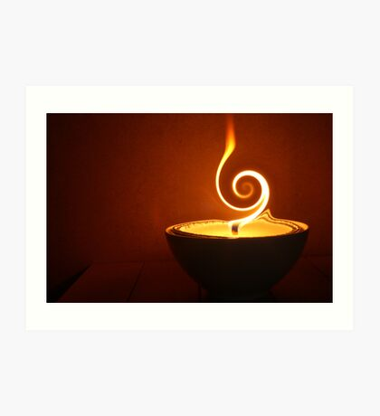 twirling flame Art Print