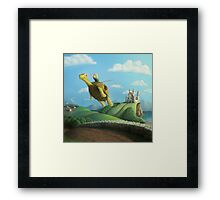Flight of the Golden Turtle Framed Print