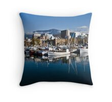 Hobart harbour Throw Pillow