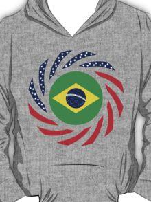 Brazilian American Multinational Patriot Flag Series T-Shirt