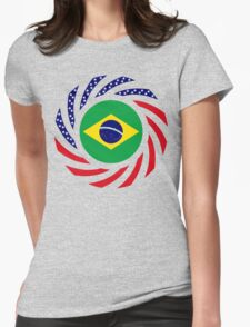 Brazilian American Multinational Patriot Flag Series Womens Fitted T-Shirt
