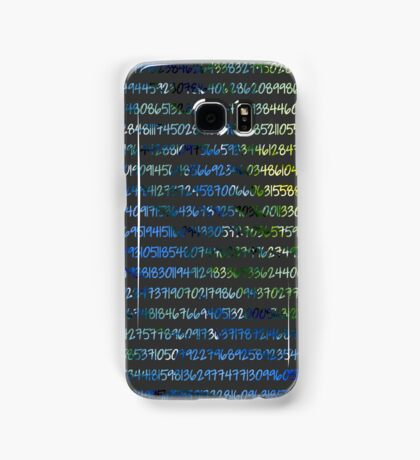 Digits of Pi (Green & Blue on Grey Background) Samsung Galaxy Case/Skin