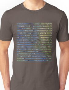 Digits of Pi (Green & Blue on Grey Background) T-Shirt