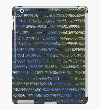Digits of Pi (Green & Blue on Grey Background) iPad Case/Skin