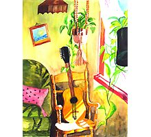 Guitar :: Tridib Ghosh :: Paint This photo Challenge Photographic Print