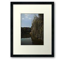 Fall on a lakeside Framed Print