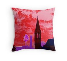 When The Sky Turned Red Throw Pillow