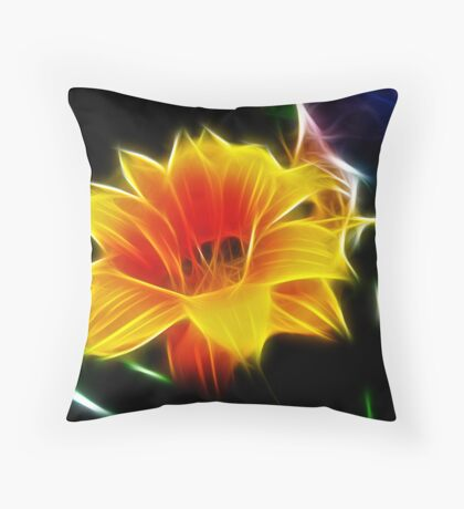 Fractal Frenzy Throw Pillow