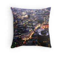 End Of Day in the Square Mile Throw Pillow
