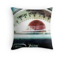 Time Expired Throw Pillow