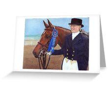 Arabian Show Hack Class Winner Portrait Greeting Card